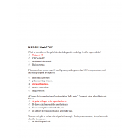NURS 6512N Week 7 Quiz with Answers (Two Sets)