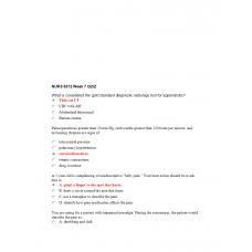 NURS 6512N Week 7 Quiz