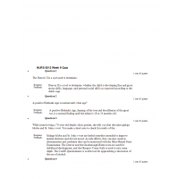 NURS 6512N Week 9 Quiz  1 with Answers
