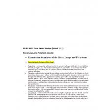 NURS 6512N Week 11 Final Exam Review 2 - Week 7 to 11