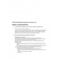 NURS 6512N Week 6 Midterm Exam Review Week 1 to 6