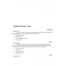 NURS 6521 Week 3 Quiz 2 - Question and Answers