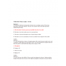 NURS 6521 Week 11 Quiz 1 - 02 Sets (Question and Answers)