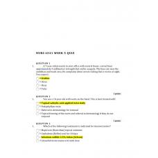 NURS 6541 Week 5 Quiz 1