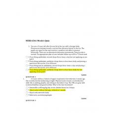 NURS 6541 Week 6 Quiz 2