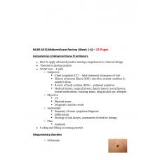 NURS 6531N Midterm Exam Review Week 1 to 6