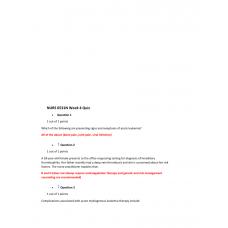 NURS 6531N Week 4 Quiz 1 with Answers