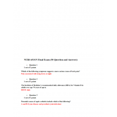 NURS 6531N Final Exam 2 - Question and Answers