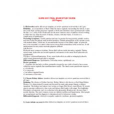 NURS 6531N Week 11 Final Exam Study Guide