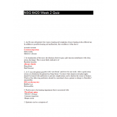 NSG 6420 Week 2 Quiz 2