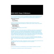 NSG 6420 Week 5 Midterm Exam 1