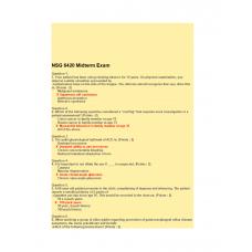 NSG 6420 Week 5 Midterm Exam 4