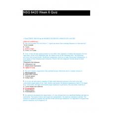 NSG 6420 Week 6 Quiz