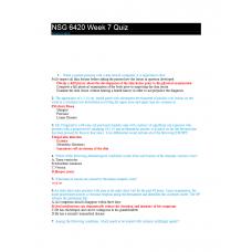 NSG 6420 Week 7 Quiz