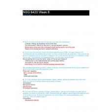 NSG 6420 Week 8 Quiz