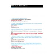 NSG 6420 Week 9 Quiz