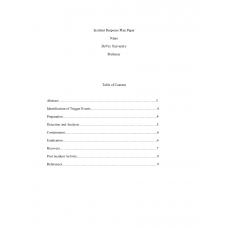 SEC 340 Week 3 Incident Response Plan Paper