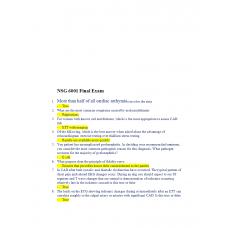 NSG 6001 Final Exam 1