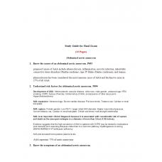 NSG 6001 Final Exam Study Guide