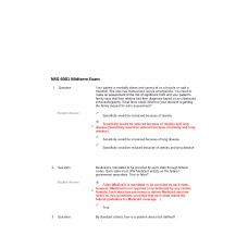 NSG 6001 Midterm Exam 1