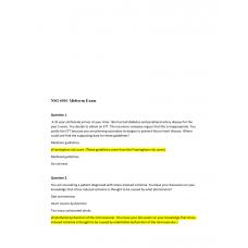 NSG 6001 Midterm Exam 2