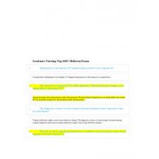 NSG 6001 Midterm Exam Review