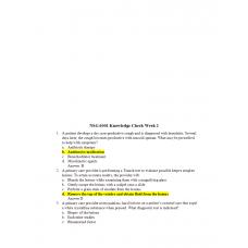 NSG 6001 Week 2 Knowledge Check