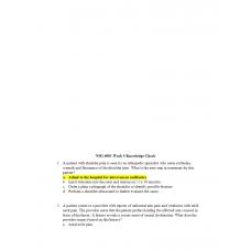 NSG 6001 Week 5 Knowledge Check