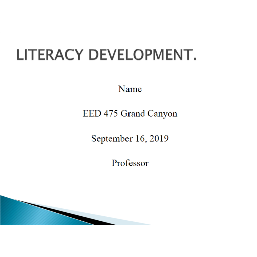 EED 475 Week 1 Assignment, Common Core and Literacy Workshop for Parents: 2019