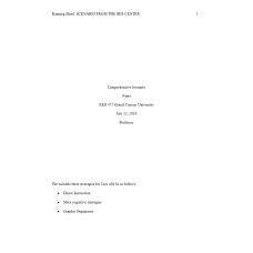 EED 475 Week 3 Assignment, Comprehension Scenario: 2019