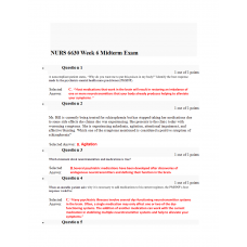 NURS 6630 Midterm Exam 4