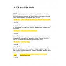 NURS 6640 Final Exam 5
