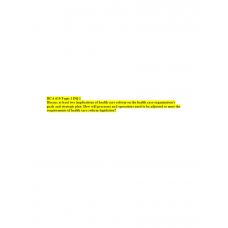 HCA 610 Topic 1 DQ 1