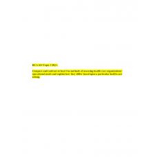 HCA 610 Topic 2 DQ 1