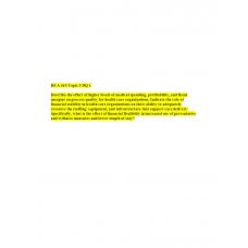 HCA 610 Topic 3 DQ 1