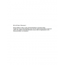 HCA 610 Topic 3 DQ 2, Pettigrew