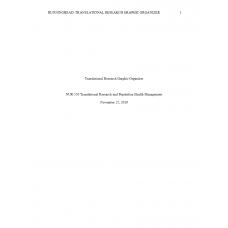 NUR 550 Topic 1 Translational Research Graphic Organizer: 2020