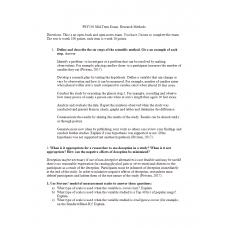PSY 550 Midterm Exam 1