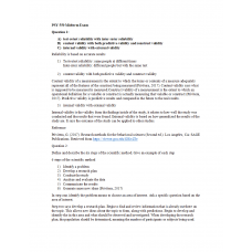 PSY 550 Midterm Exam 3