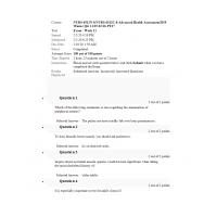 NURS 6512N - NURS 6512C Final Exam 9 (Feb 2020 - 100 out of 100)