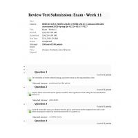 NURS 6512N - NURS6512D - NURS6512C Final Exam 10 (Spring 2020 - 100 out of 100)