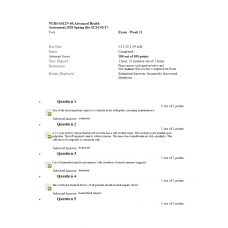 NURS 6512N Final Exam 7 - (May 2020 - 100 out of 100)