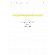 NUR 590 Week 2 Evidence-Based Practice Proposal - Section A and B (Speticemia)