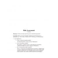 HLT 555 Week 3 Assignment, Risk Assessment 1