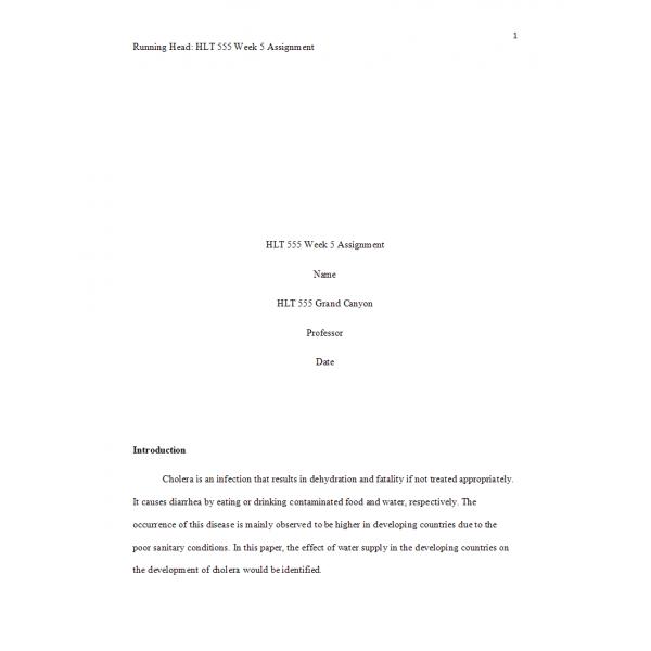 HLT 555 Week 5 Assignment, Public Service Health Announcement 2