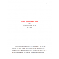 HLT 305 Topic 2 Assignment, Standards of Care and Medical Practice: Spring 2020