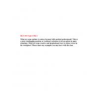 HLT 305 Topic 6 DQ 2: Spring 2020