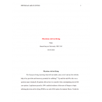 HLT 305 Topic 7 Assignment, Physician Aid in Dying Case Study: Spring 2020