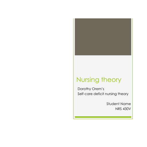 NRS 430V Topic 3 Assignment; CLC - Nursing Theory and Conceptual Model Presentation: Summer 2020