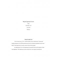 HCA 240 Assignment 2, Hospital Application Scenario: 2019